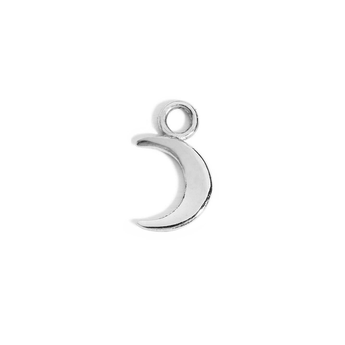 The Silver Moon Charm-Pendant-Black Betty Design
