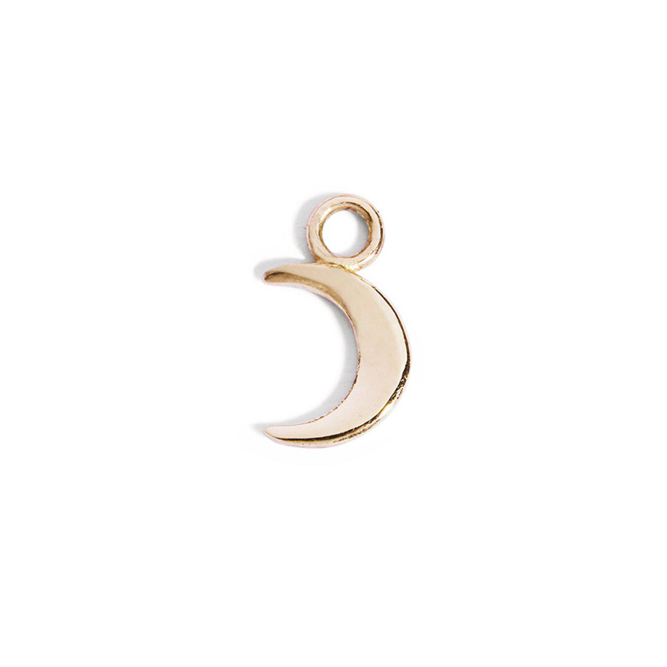The Yellow Gold Moon Charm-Pendant-Black Betty Design