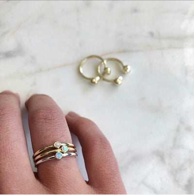The Mini Opal Stacker in Gold