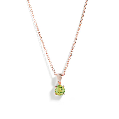 The Skinny Joy Peridot Necklace in 9kt Rose Gold-Necklace-Black Betty Design