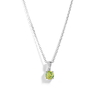 The Skinny Joy Peridot Necklace in Silver-Necklace-Black Betty Design