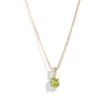 The Skinny Joy Peridot Necklace in 9kt Yellow Gold-Necklace-Black Betty Design