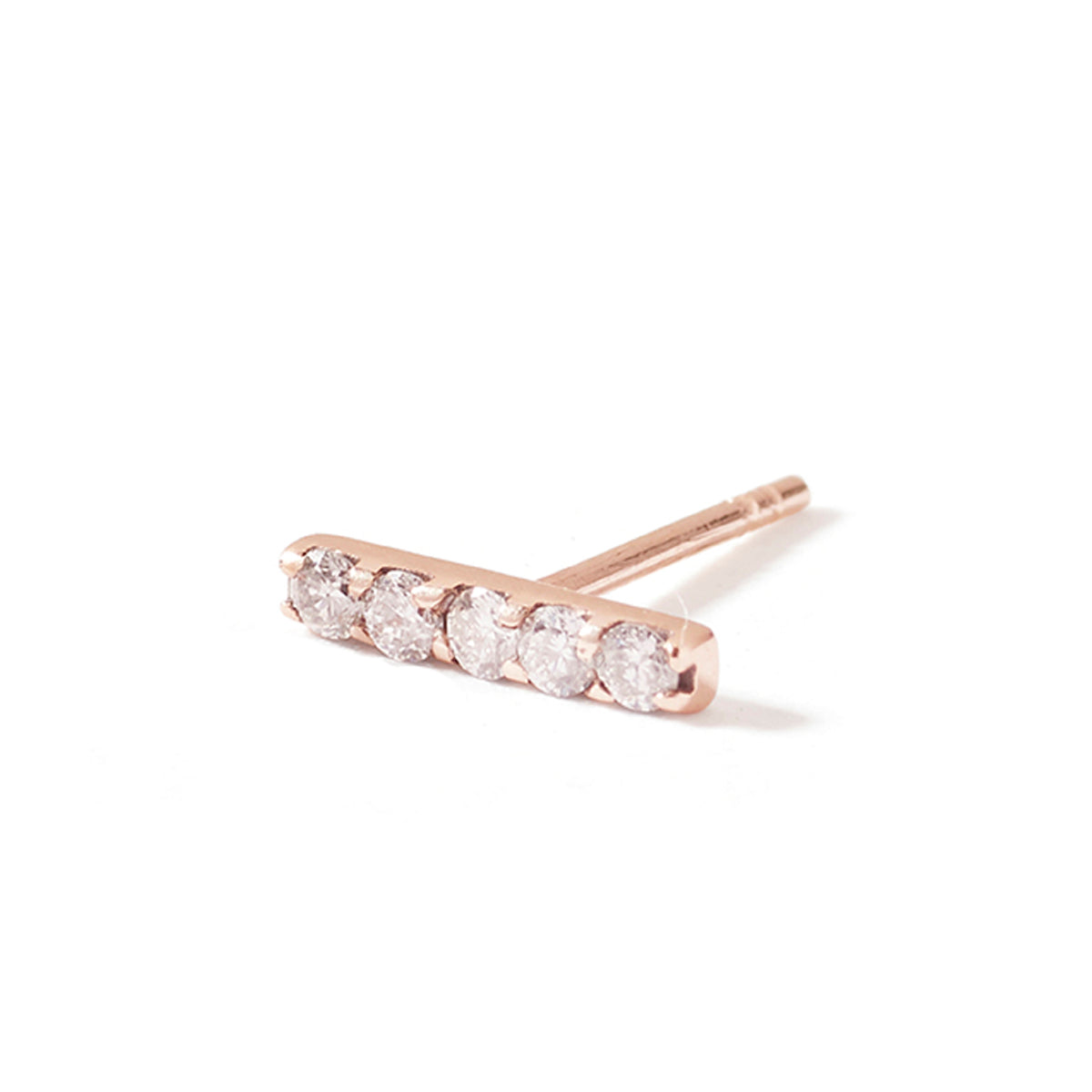 The Sapphire Bar Stud in 9kt Rose Gold