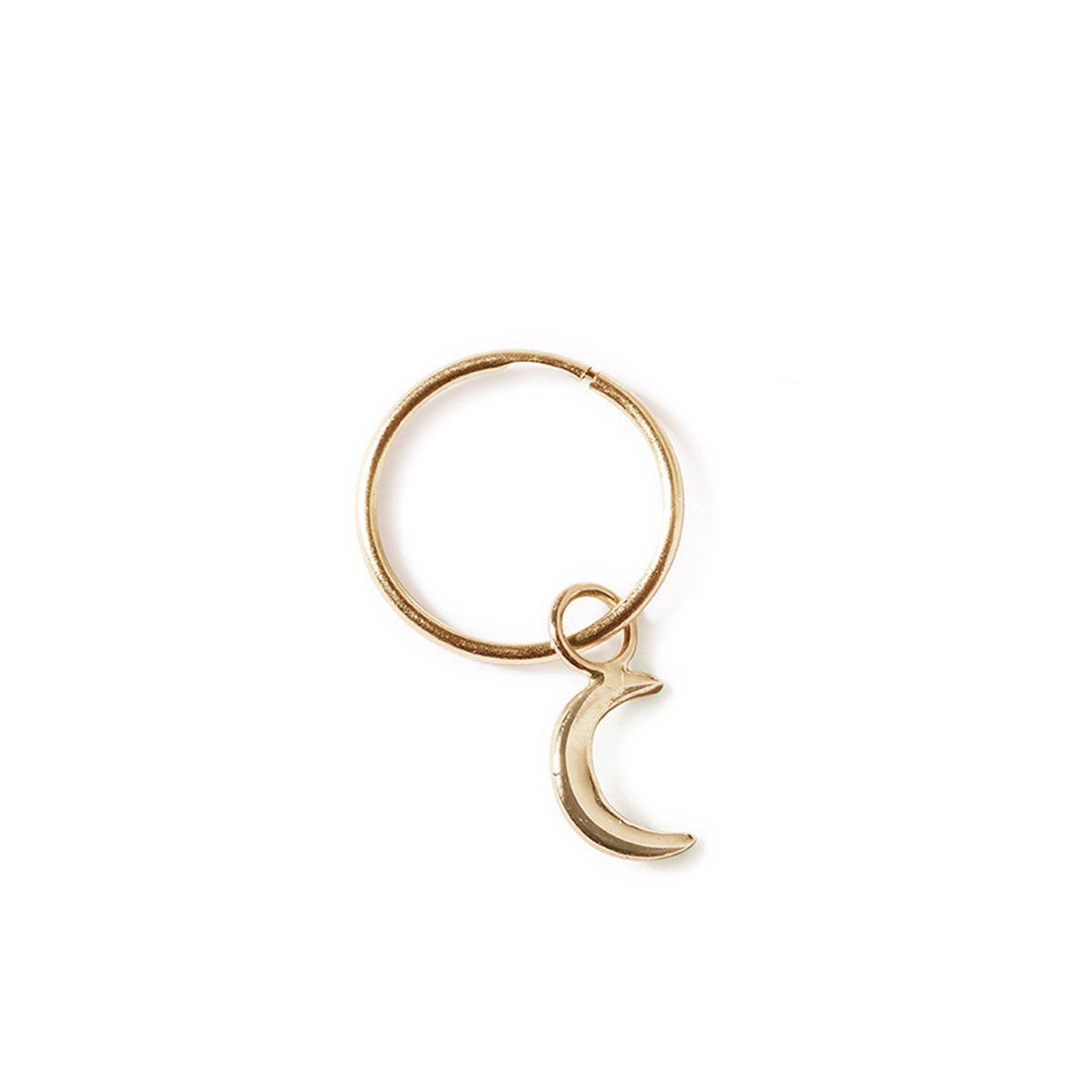 The Moon Sleeper in Yellow Gold - Single-Earrings-Black Betty Design