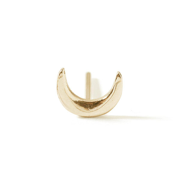 The Yellow Gold Moon Stud