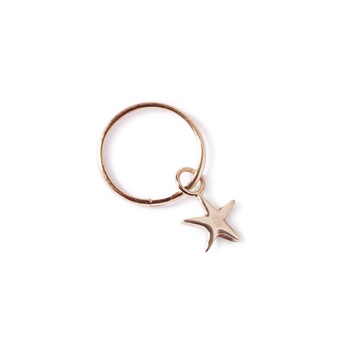 The Star Sleeper in Rose Gold - Single-Earrings-Black Betty Design