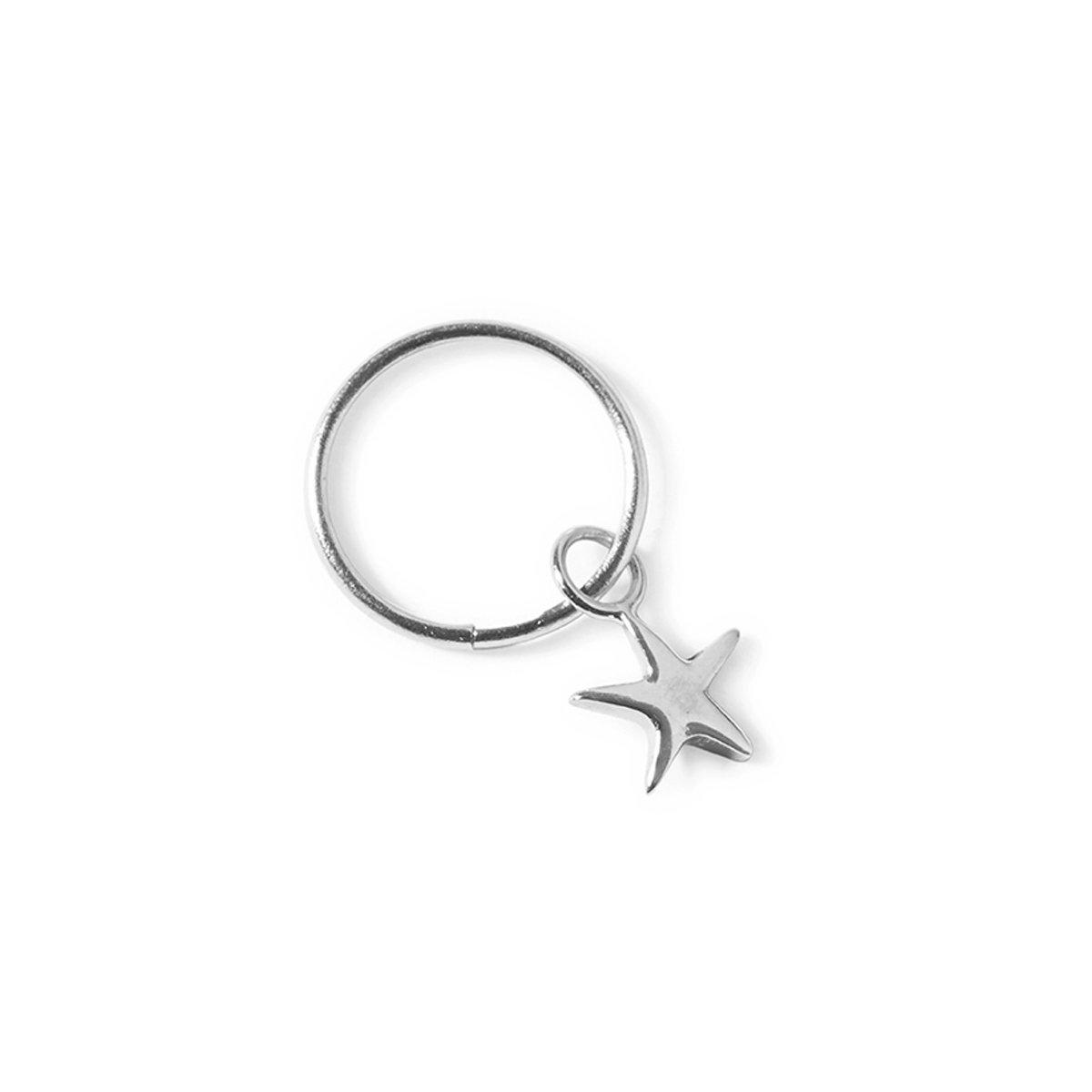 The Star Sleeper in Silver-Earrings-Black Betty Design