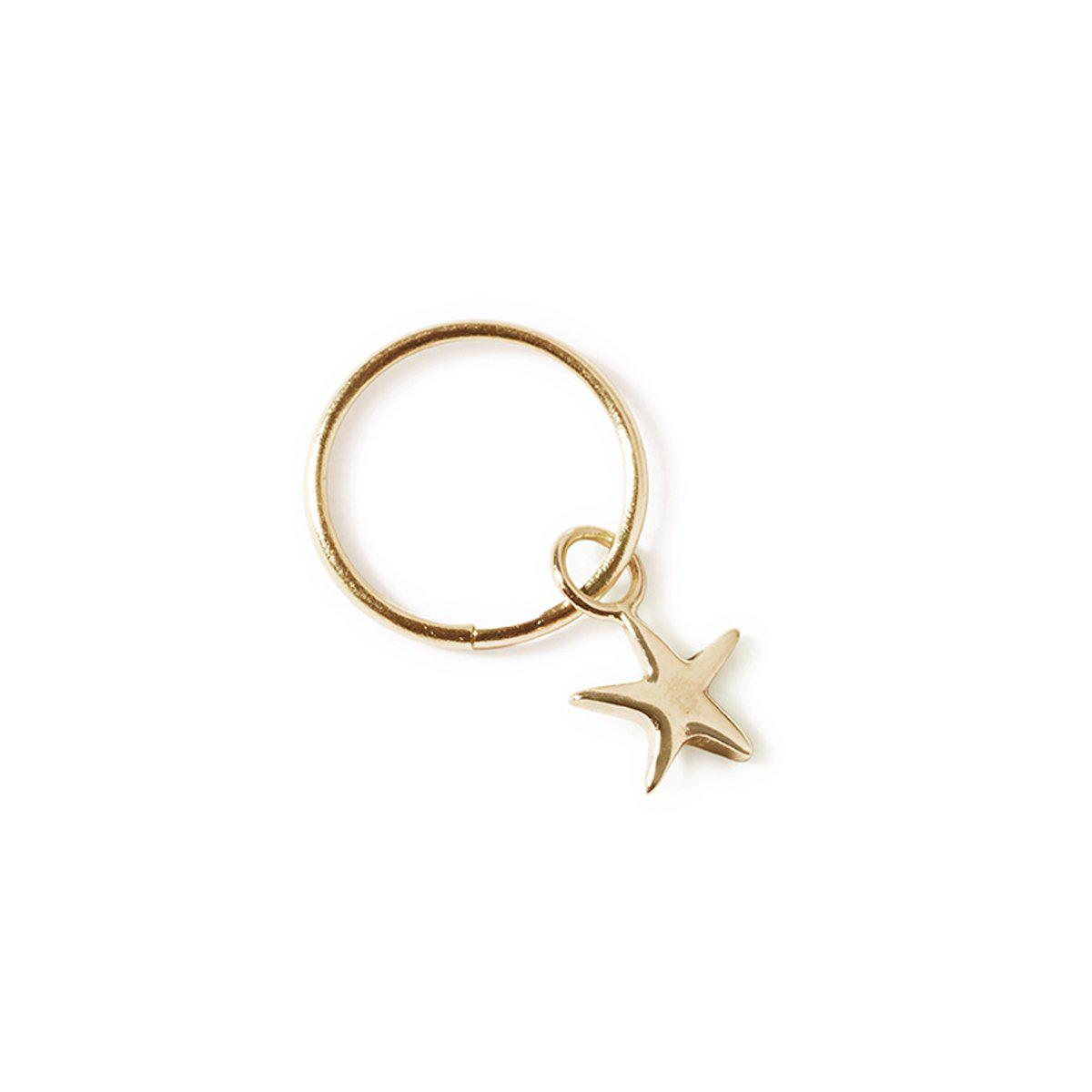 The Star Sleeper in Yellow Gold - Single-Earrings-Black Betty Design
