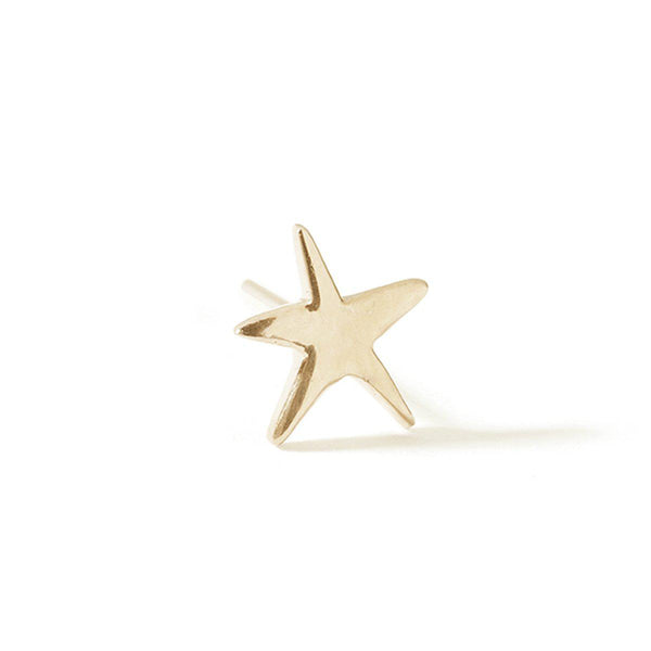 The Yellow Gold Star Stud