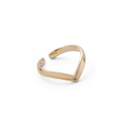The 9kt Gold Chevron Cuff