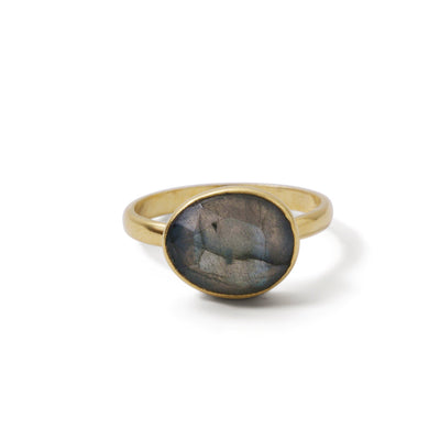 The Polki Gemstone Ring-Ring-Black Betty Design