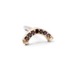 The Black Diamond Rainbow Stud in 9kt Gold