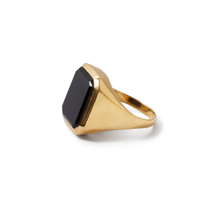 The Black Onyx Rectangle Signet Ring