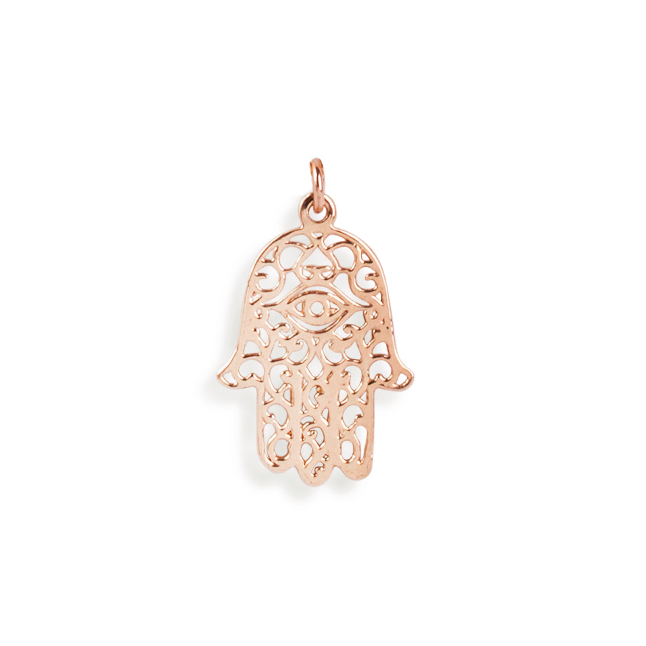 The Rose Gold Hamsa Hand Charm-Pendant-Black Betty Design