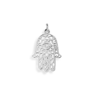 The Silver Hamsa Hand Charm-Pendant-Black Betty Design