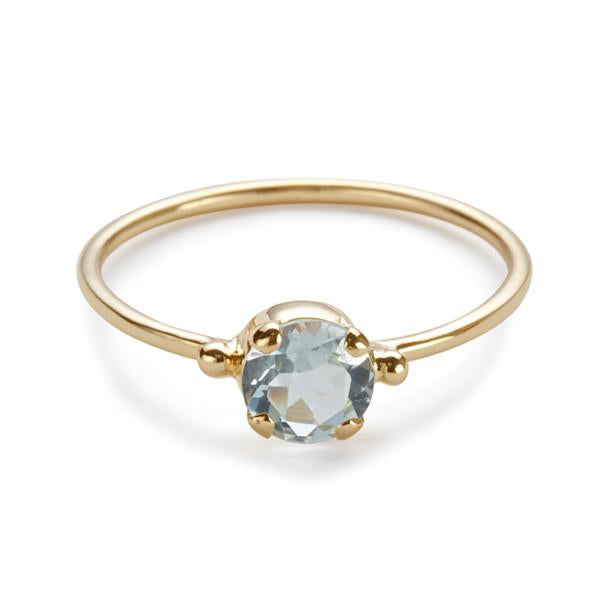 The Skinny Joy Ring in Aquamarine-Ring-Black Betty Design