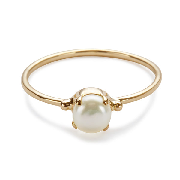 The Skinny Joy Ring in Pearl-Ring-Black Betty Design