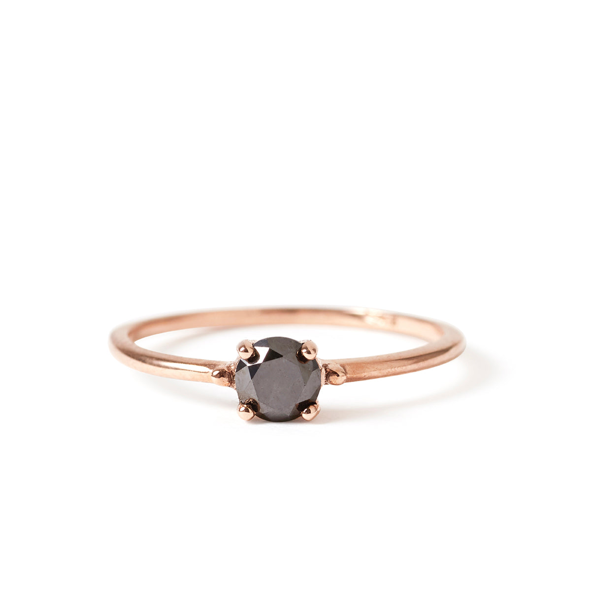 The Rose Gold & Black Diamond Skinny Joy Ring-Ring-Black Betty Design