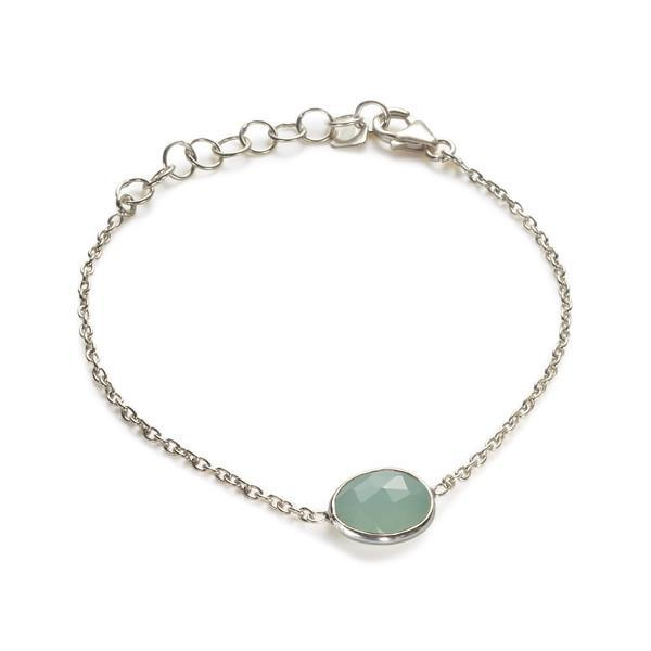 The Faceted Stone Bracelet in Silver