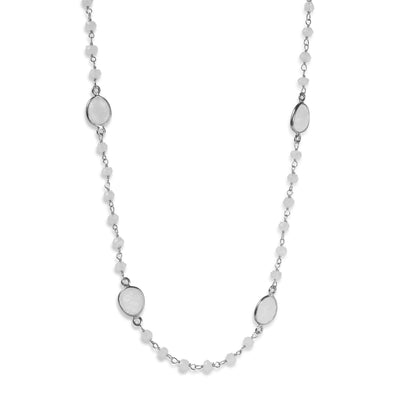 The Single stoned Necklace in Silver