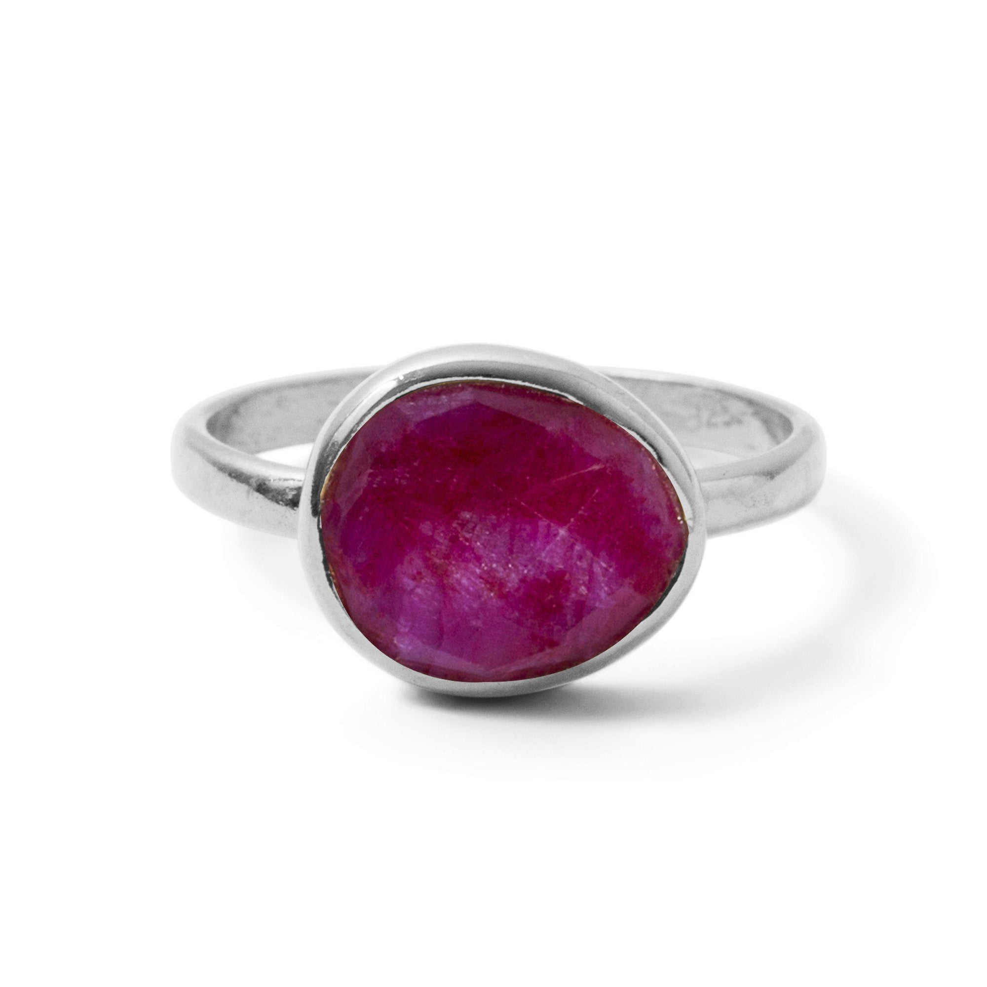The Polki Gemstone Ring in Silver
