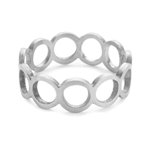 The Circle Ring in Silver-Ring-Black Betty Design
