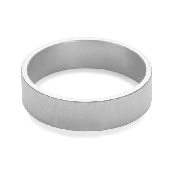 Hank - 5mm Brushed Band in Silver-Ring-Black Betty Design