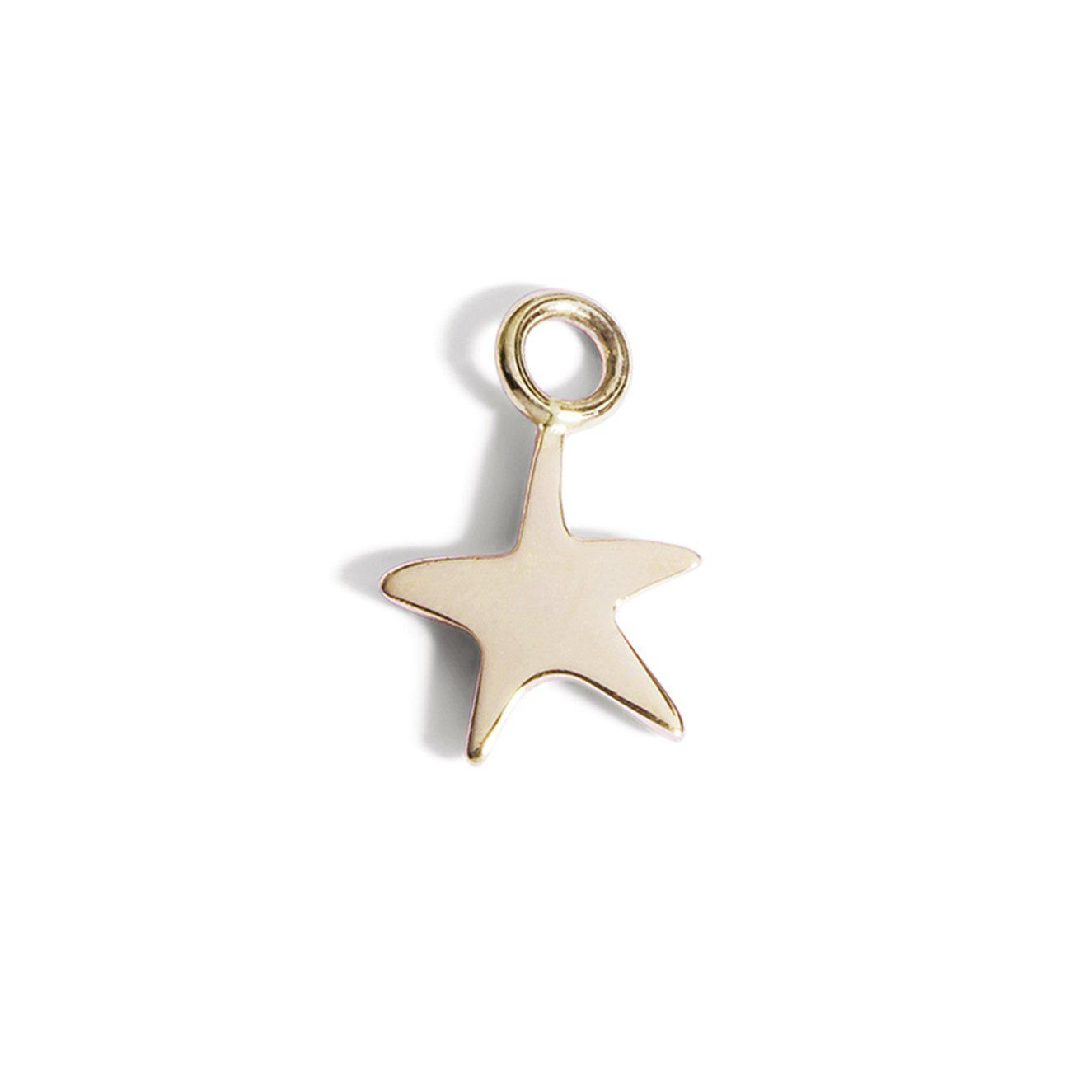 The Yellow Gold Star Charm-Pendant-Black Betty Design