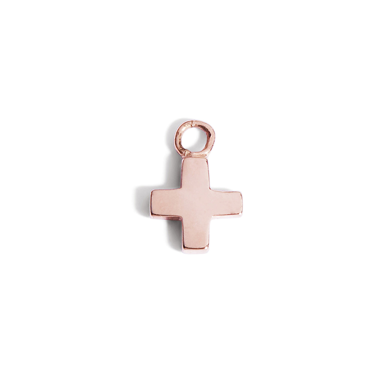 The Swiss Cross Charm in Rose Gold-Pendant-Black Betty Design