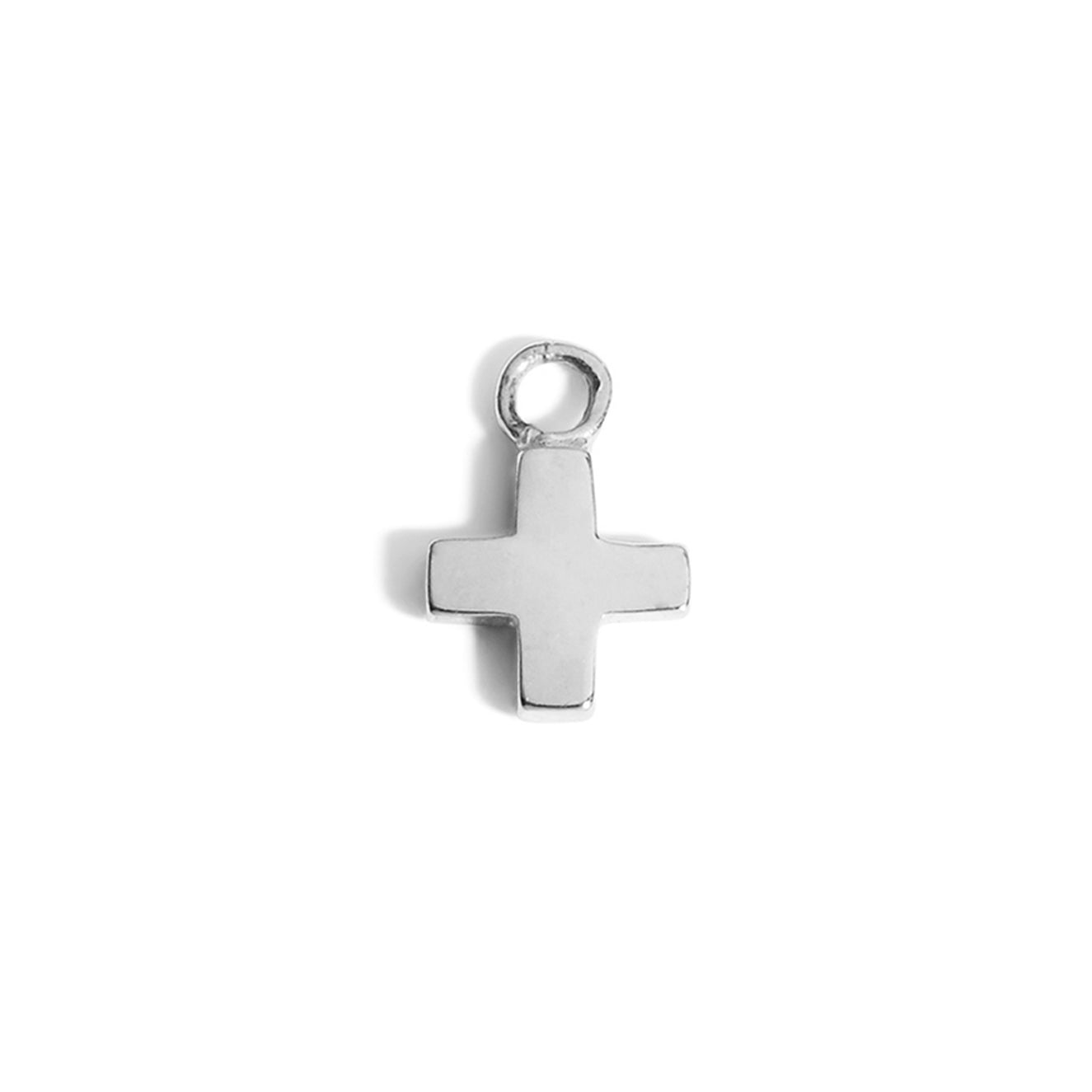 The Swiss Cross Charm in Silver-Pendant-Black Betty Design