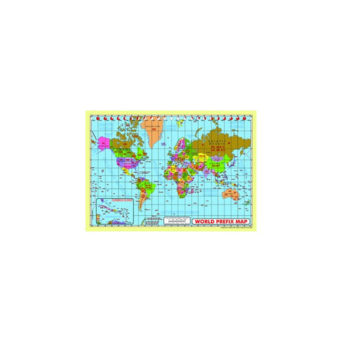 Word Prefix Map Size A2 Laminated