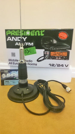 President Andy ASC AM / FM + Sirio ML-145 mobile antenna kit