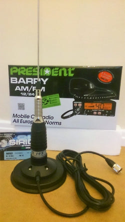 President Barry ASC AM / FM + Sirio ML-145 mobile antenna kit