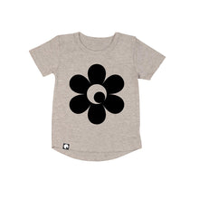 Flower Power Long Back T-shirt (size 1 grey left)