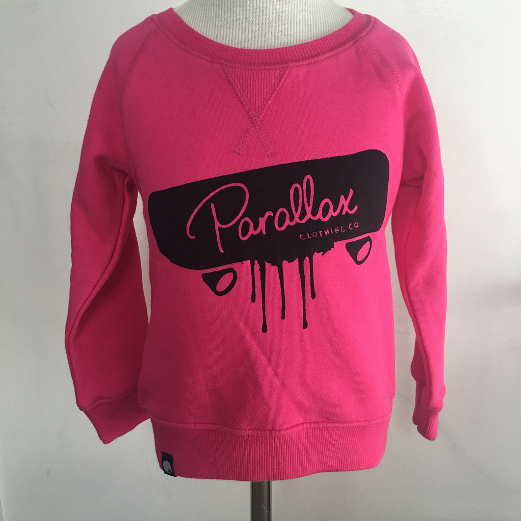 Limited Edition Hand Printed Sk8 or Die Crew Neck Pink