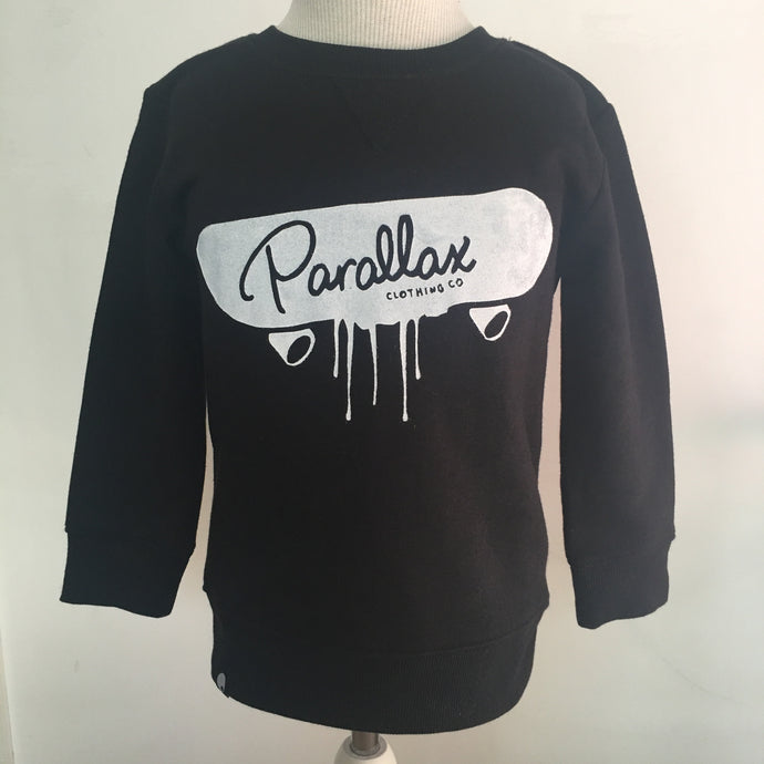 Limited Edition Hand Printed Sk8 or Die Crew Neck Black
