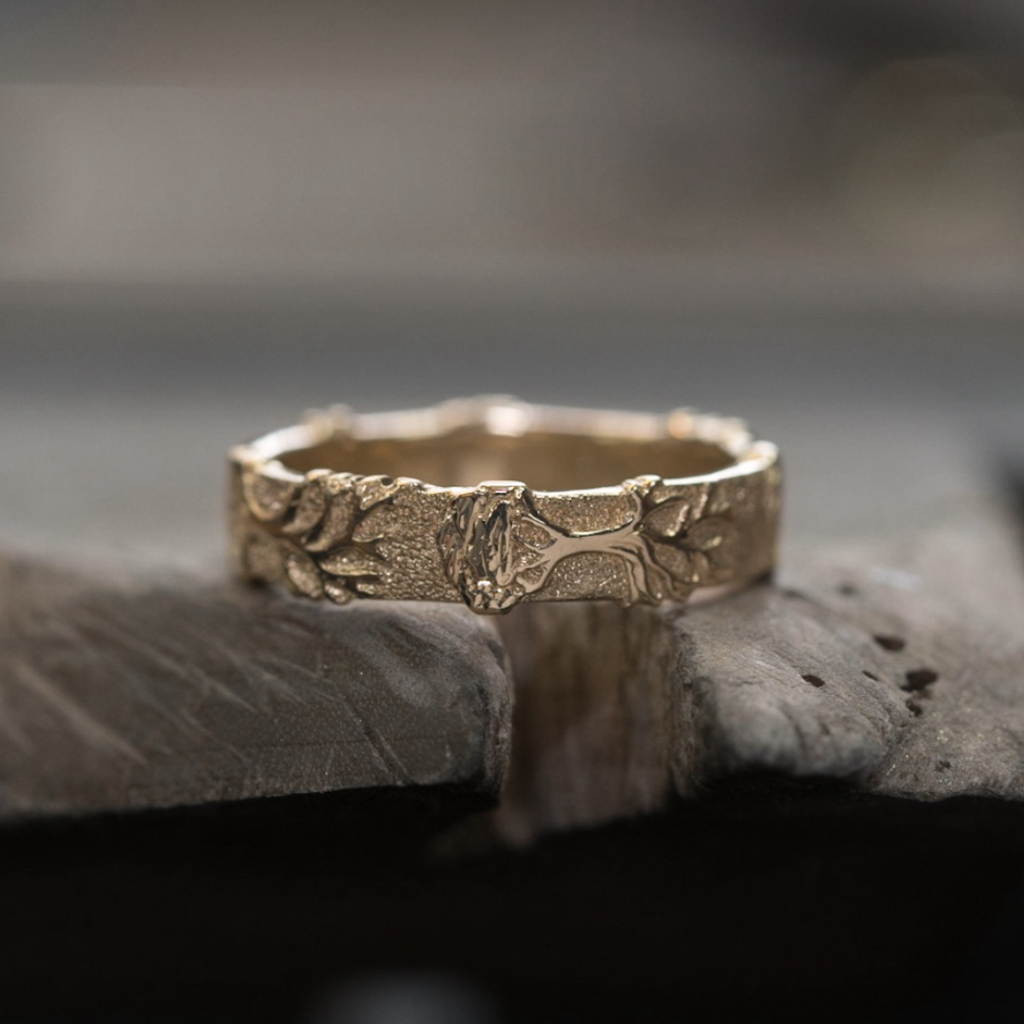 Tree of Life Ring - 9ct Yellow Gold | Andrew Ashcroft | The Croft Workshops