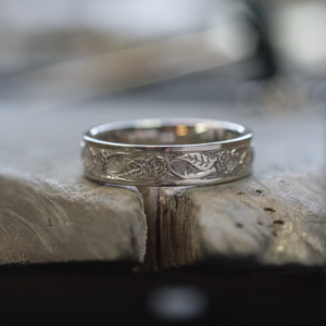 Rose & Thorn Ring - Platinum | Andrew Ashcroft | The Croft Workshops