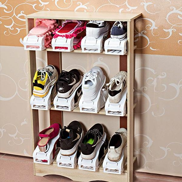 Double Deck Shoes Rack Organizer (One Size Fits All Shoe sizes)