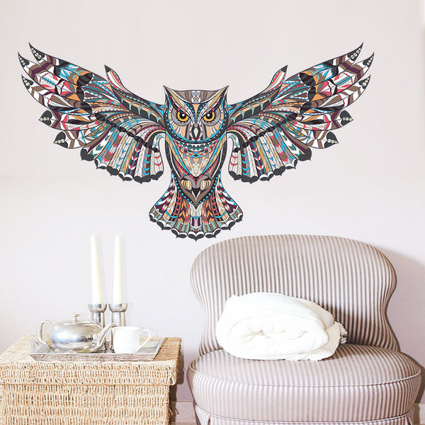 Bohemian Owl Vinyl Wall Sticker/Decal