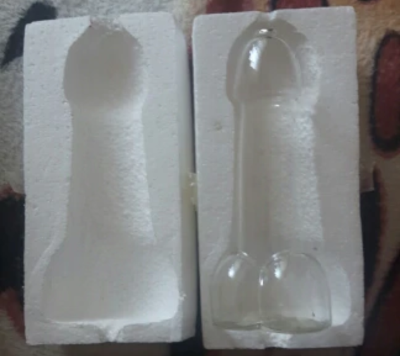 "Transparent ""Cock"" Tail Glasses"