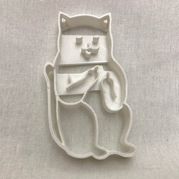 Cat Middle Finger Cookie Cutter