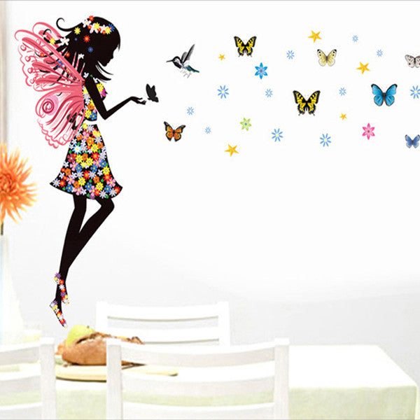 Beautiful Butterfly Elf Arts Wall Sticker For Kids Rooms