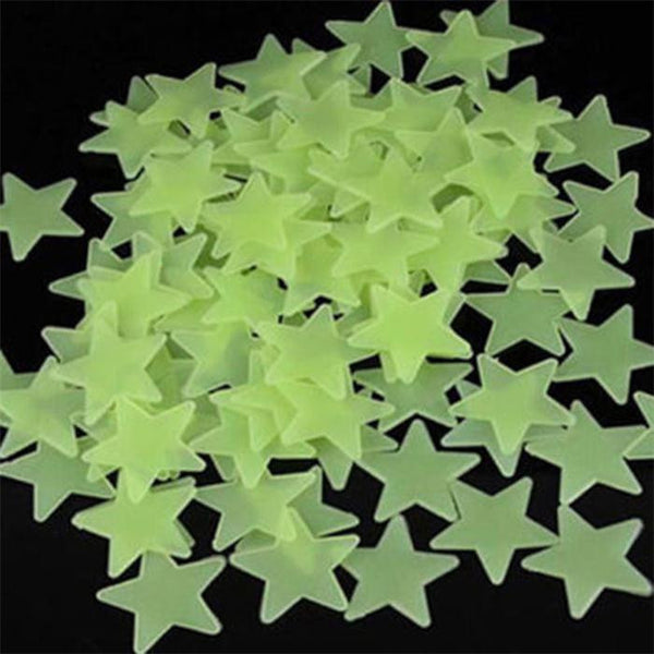 Luminous Glow In The Dark Stars Wall Stickers For Kids/Baby Room 100Pcs/Pack