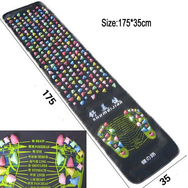 Reflexology Walk Stone Pain Relief Acupressure Mat