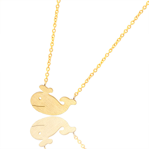 Gold/Silver Plated Stainless steel Whale Necklace