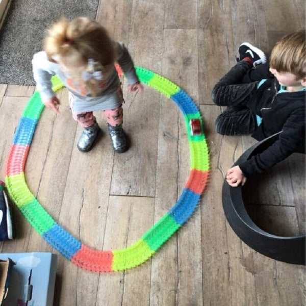 Magic Glowing Race Track Set For Kids