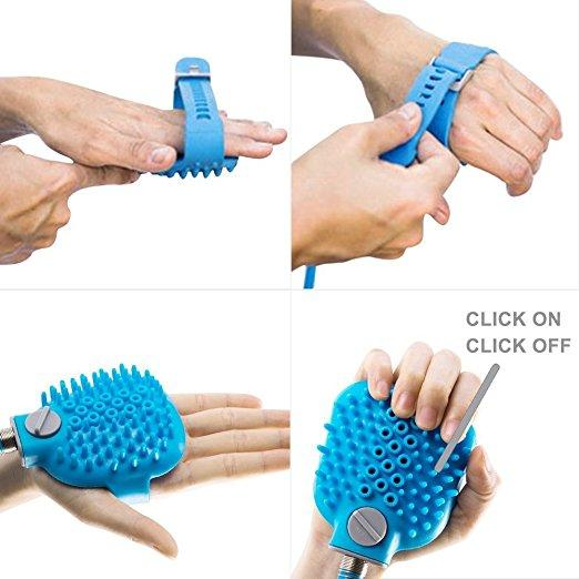Palm-Sized Dog/Cat Scrubber and Water Sprayer