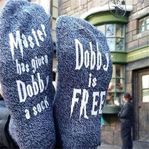 Master has given Dobby a sock, Dobby is Free Funny socks