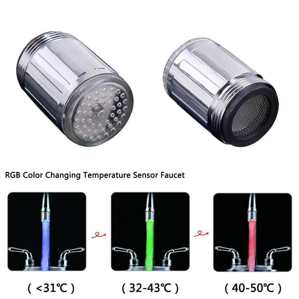 Temperature Sensing LED Water Faucet